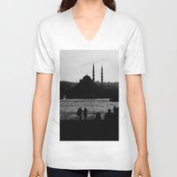istanbul V-neck T-shirts featuring Istanbul by habish