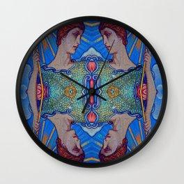 Minerva Goddess Of Wisdom Surreal Pop Art 1 Wall Clock