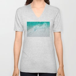 Turquoise Sea Photo | Sea Photography | Tropical Clear Ocean Water Unisex V-Neck