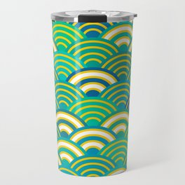 abstract scales simple Spring Nature background with japanese circle Travel Mug