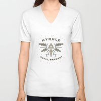 hyrule V-neck T-shirts featuring Hyrule Royal Brewery by Tugrul Peker