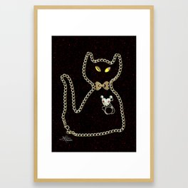 I Love Me Mouse! Cat and Mouse Jewelry Scanography Framed Art Print