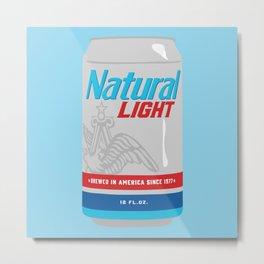 Natty Light Metal Print