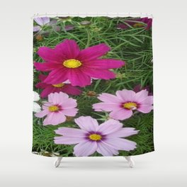 Multi coloured flower digital photography Shower Curtain