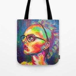 Femme a lunettes Tote Bag