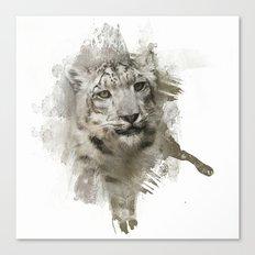 Expressions Snow Leopard Canvas Print