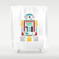 r2d2 Shower Curtains featuring R2D2 by John David Harris