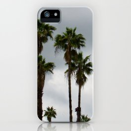 Cloudy Day Palms on the Hillside iPhone Case
