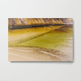 Clear And Green Metal Print