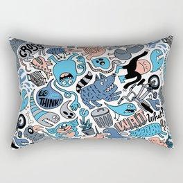 Gross Patten Now Rectangular Pillow