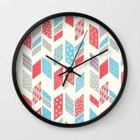arrows Wall Clocks featuring Arrows by MarikoSG
