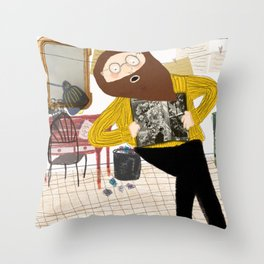 The poet's belly Throw Pillow