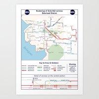 Beleriand Routemap Art Print