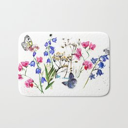Wild Flowers Field Bath Mat