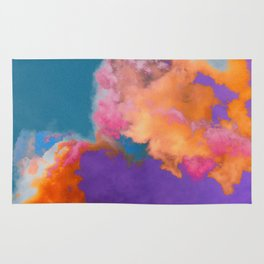 Colorful clouds in the sky Rug