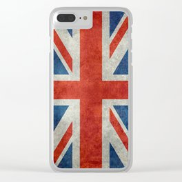 UK flag, High Quality bright retro style Clear iPhone Case