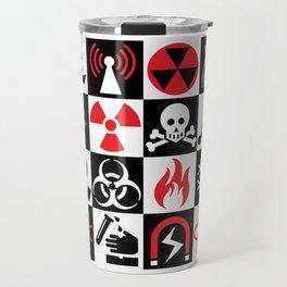 Hazard Danger Icons Travel Mug