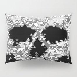 Geometric Light Grey Skull Composed Of Triangles Pillow Sham