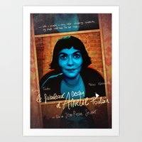 amelie Art Prints featuring Amelie by Anna Siviero