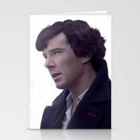 sherlock holmes Stationery Cards featuring Sherlock Holmes by LindaMarieAnson