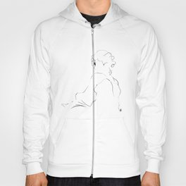 graphic sketch of a woman Hoody