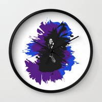 saxophone Wall Clocks featuring Saxophone Jive by Aaron Gonzalez