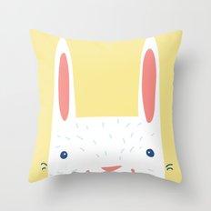 Bunny! Throw Pillow