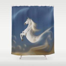 Immaterial-Fantasy Horse Shower Curtain