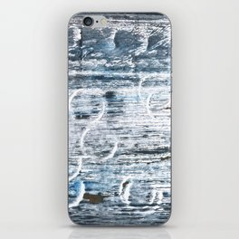 Columbia Blue abstract watercolor iPhone Skin