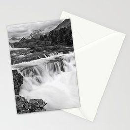 Mountain Paradise in Black and White Stationery Cards
