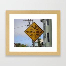 Bike Sign San Francisco Framed Art Print
