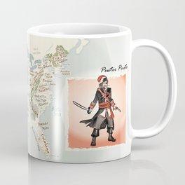 Pewter Pirate of the Buccaneer Coast Mug
