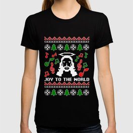 JOY TO THE WORLD Ugly Family Christmas Gift T-shirt