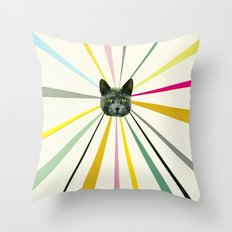 Cat's Eyes Throw Pillow