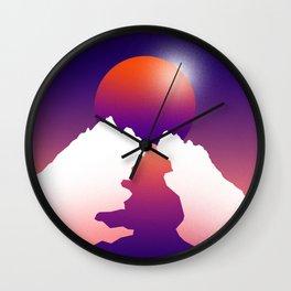 Spilt moon Wall Clock