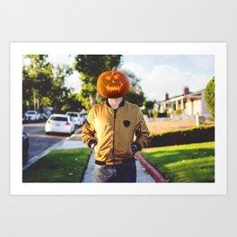 Pumpkin Head Art Print
