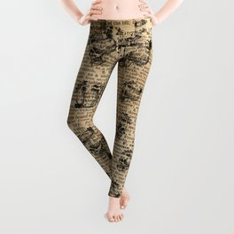 Alice with The Duchess Vintage Dictionary Art Leggings