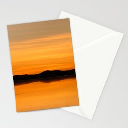 Sunset Salar de Uyuni 5 - Bolivia - Landscape and Rural Art Photography Stationery Cards