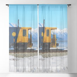 Caboose - Alaska Train Sheer Curtain