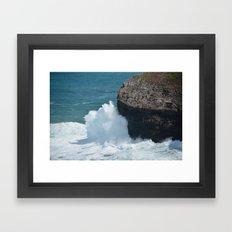 Cliff at Kilauea Lighthouse Framed Art Print
