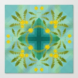 Dandelions in the sky Canvas Print