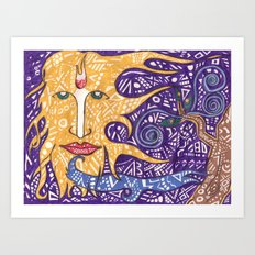 the sun god Art Print