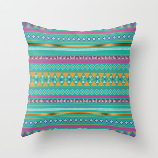 Tribal Party Throw Pillow