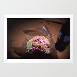 Gourmet Food Truck Tacos  Art Print