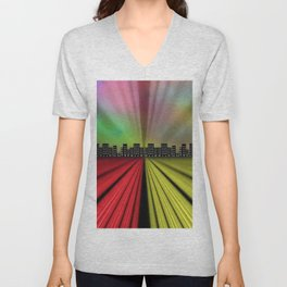 Into the City at Night Unisex V-Neck