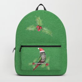 Christmas green cheeked conure Backpack