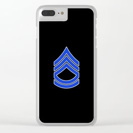 Sergeant First Class (Police) Clear iPhone Case
