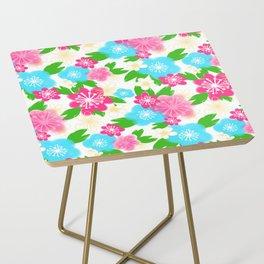 04 Pattern of Watercolor Flowers Side Table