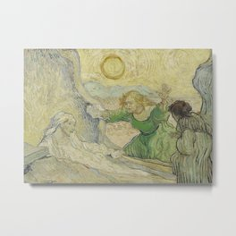 The Raising of Lazarus (after Rembrandt) Metal Print