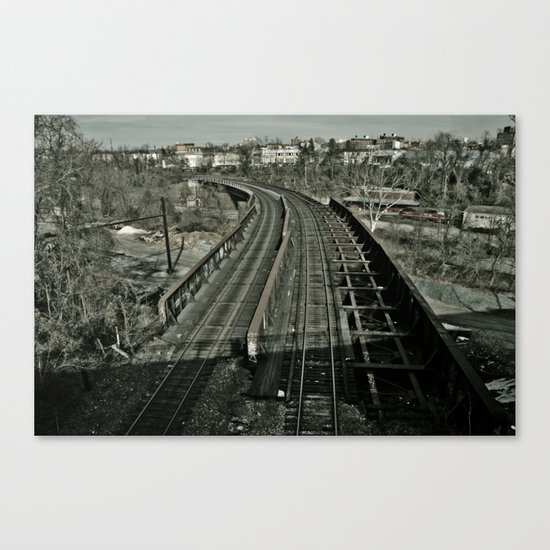 Tracks Revisited Canvas Print